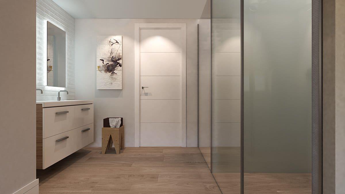 Render interior baño villas de lujo por GAYARRE infografia