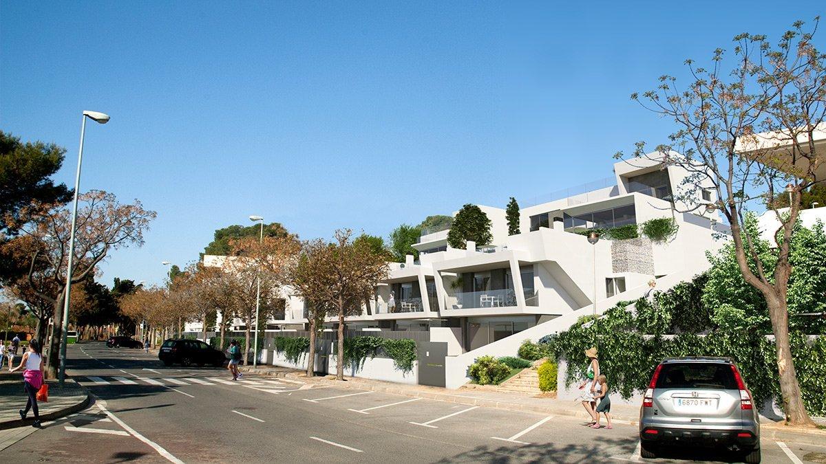 Render exterior villas de lujo por GAYARRE infografia