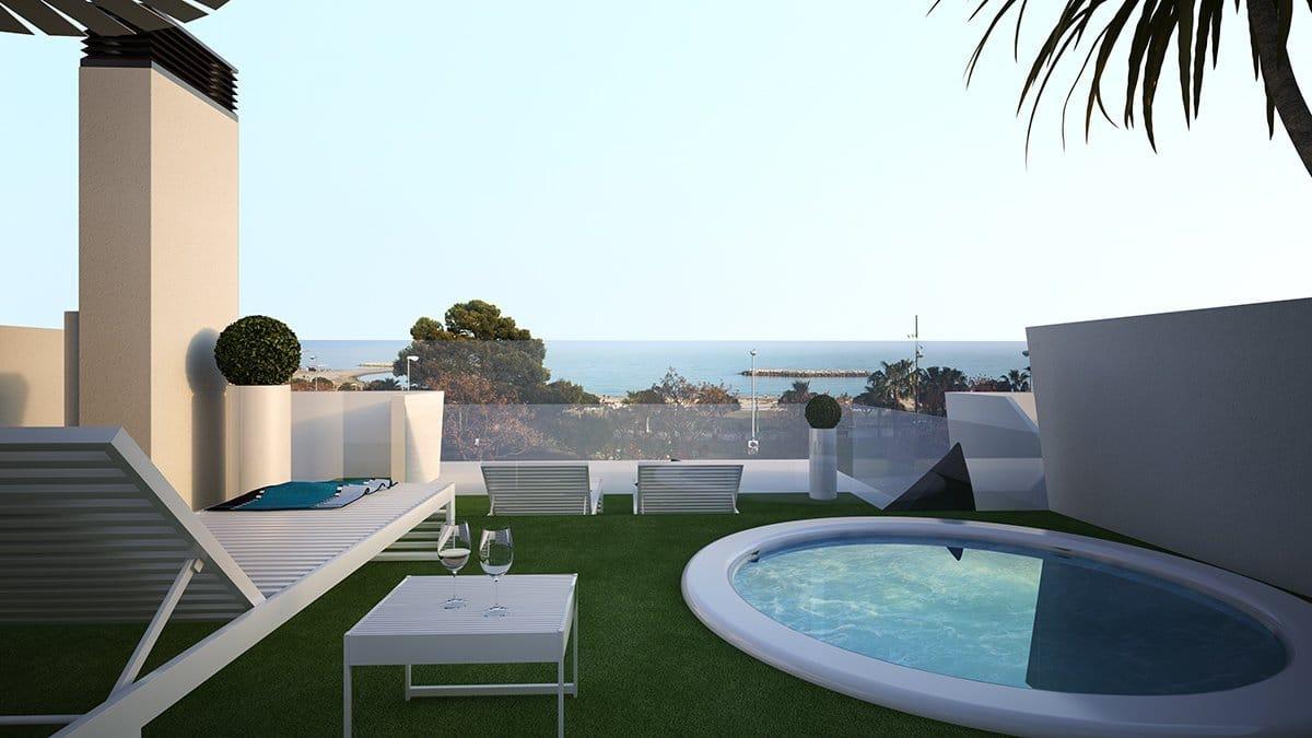 Render exterior ático piscina privada villas de lujo por GAYARRE infografia