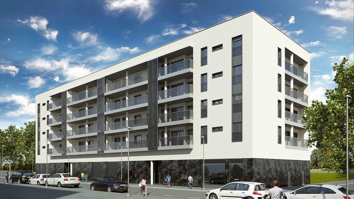Render exterior bloque de pisos por GAYARRE infografia