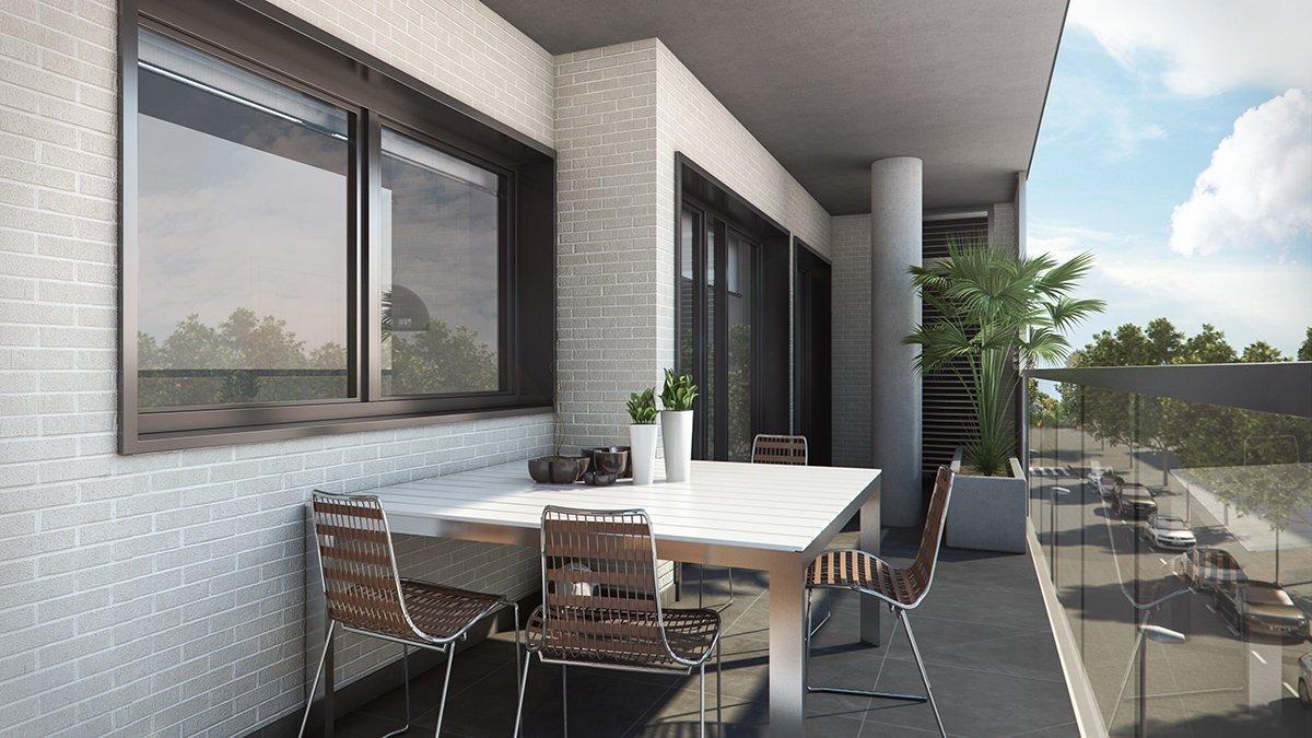 Render exterior terraza por GAYARRE infografia