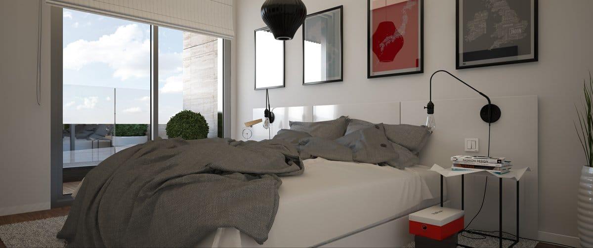 Render interior dormitorio por GAYARRE infografia