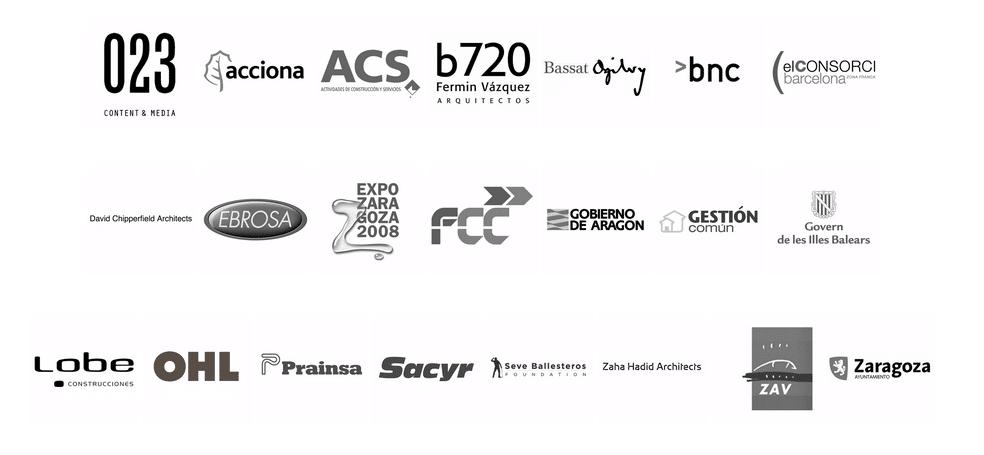 Logos de clientes de GAYARRE infografia