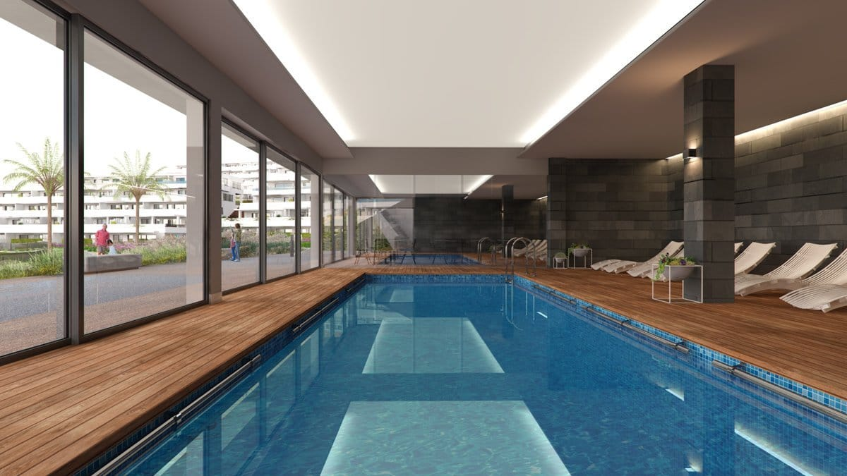 Render interior swimming pool of Seascape Resort by GAYARRE infografia