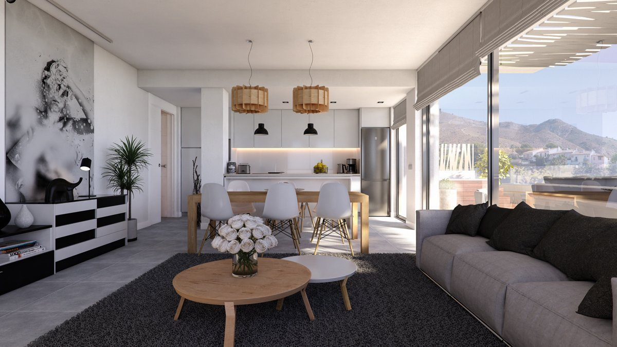 Render interior living room of Seascape Resort by GAYARRE infografia