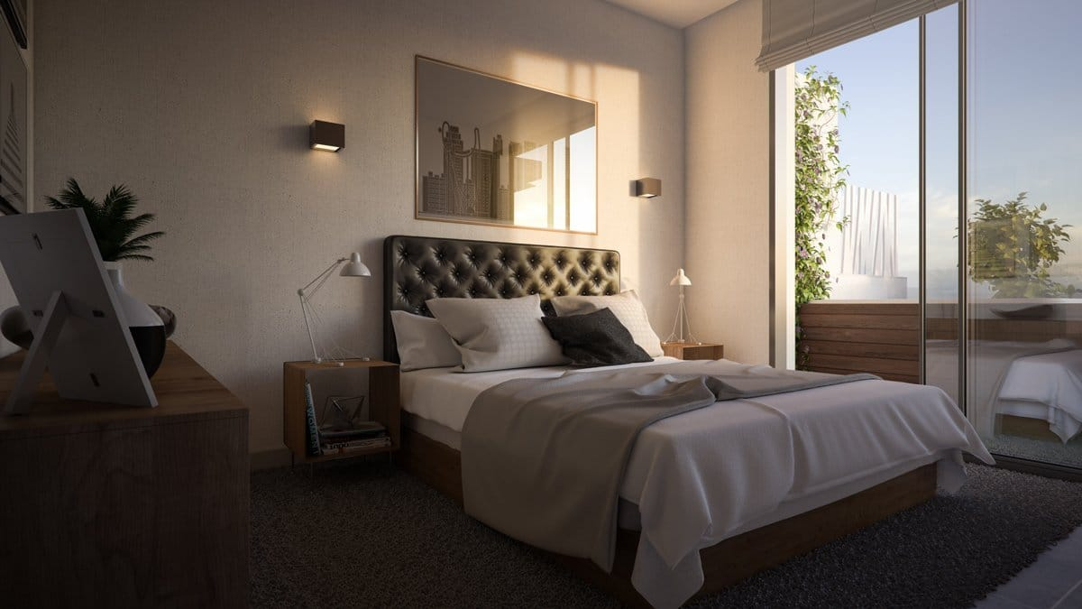 Render interior bedroom of Seascape Resort by GAYARRE infografia