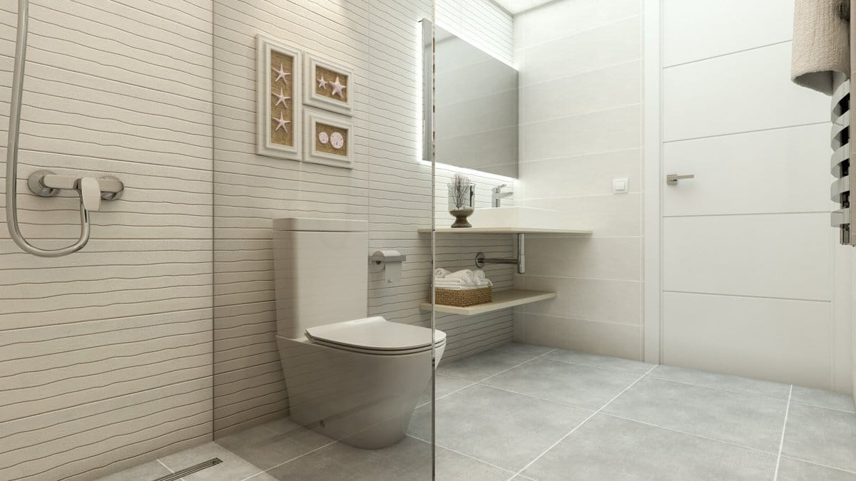 Render interior bathroom of Seascape Resort by GAYARRE infografia