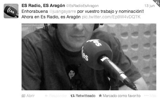 """Interview at ES-radio talking about """"alone"""" by GAYARRE infografia"""