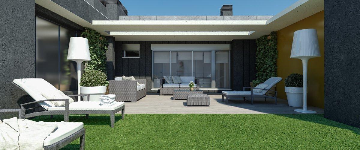 Render exterior private terrace by GAYARRE infografia
