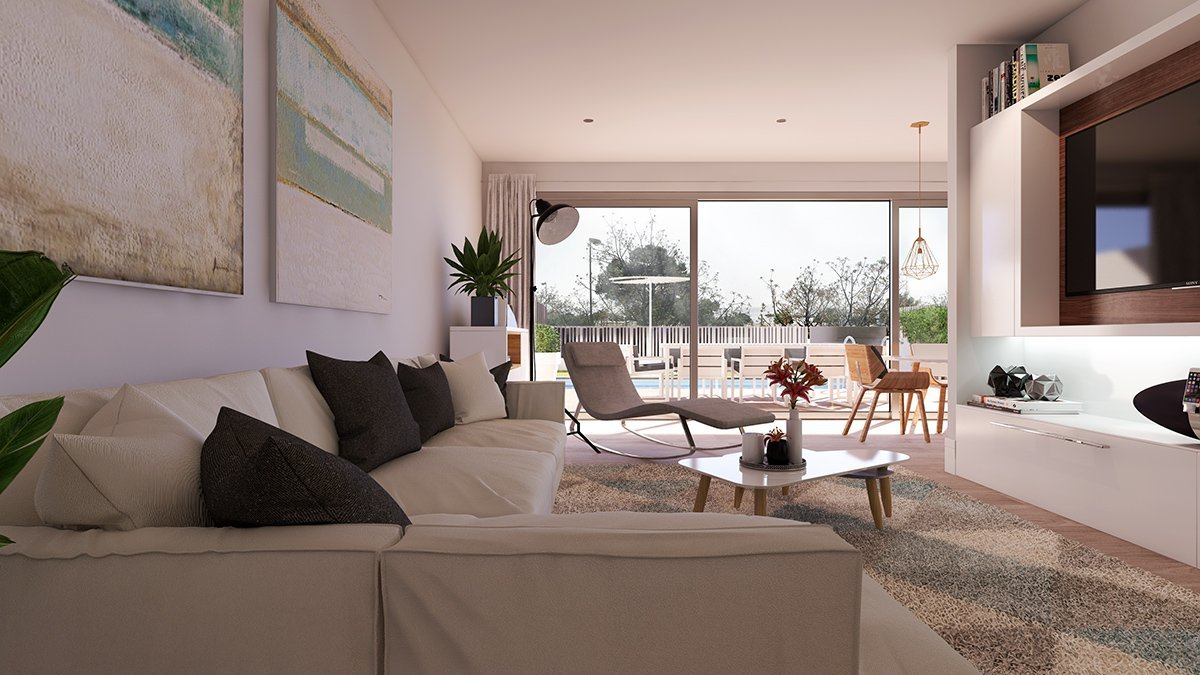Render interior living room of Oxalis by GAYARRE infografia