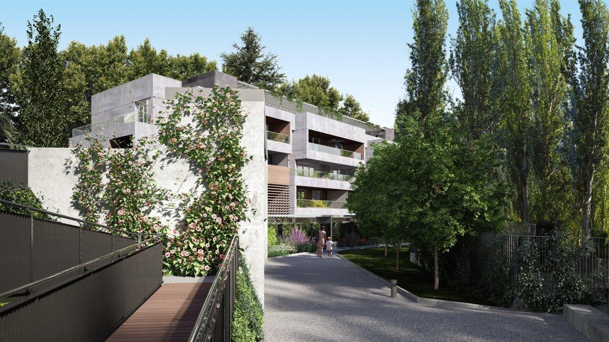 Render exterior condominium by GAYARRE infografia