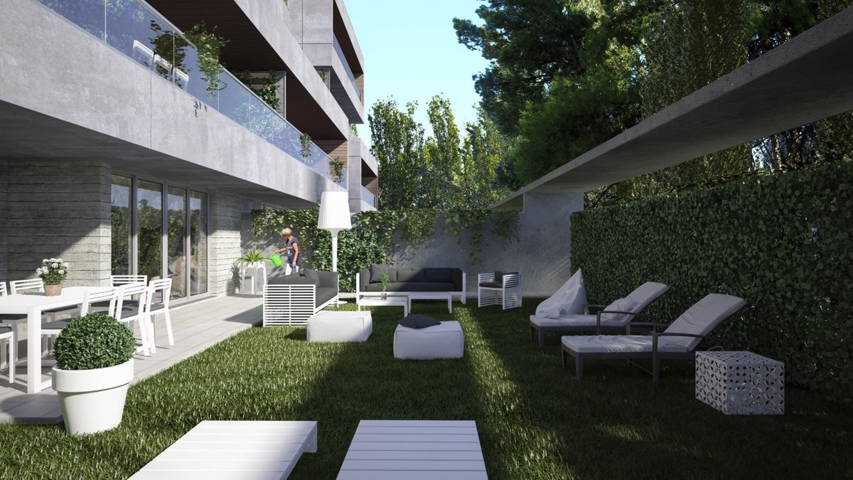 Render exterior private garden by GAYARRE infografia