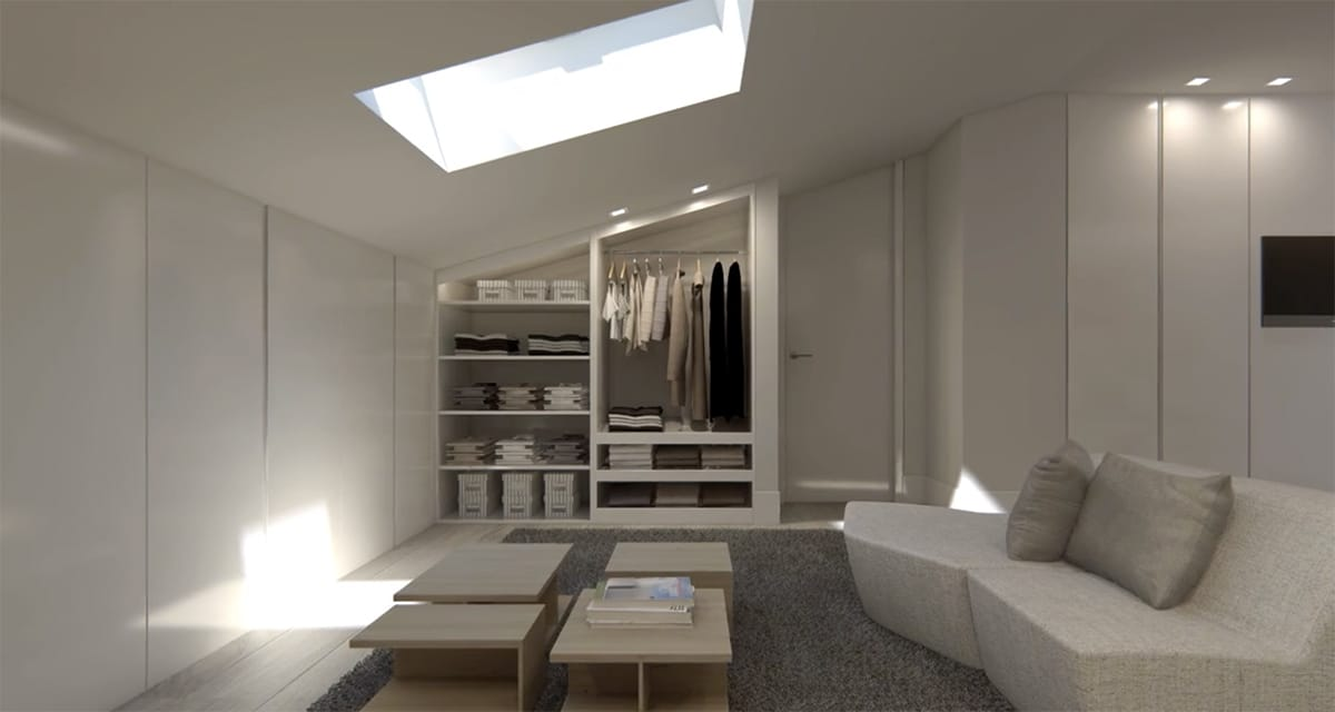 Render interior penthouse of A-cero architects by GAYARRE infografia