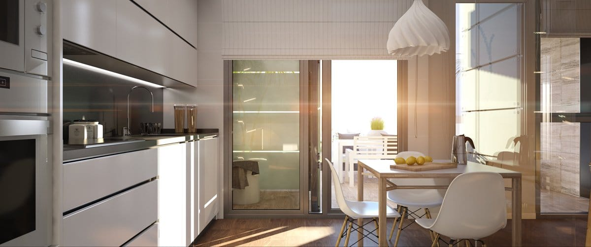 Render interior kitchen by GAYARRE infografia