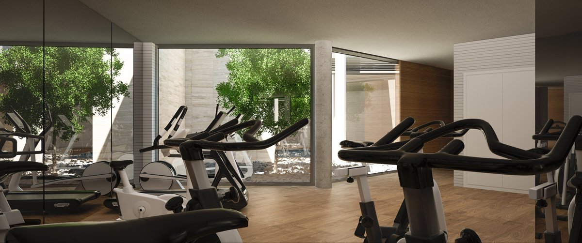 Render interior gym by GAYARRE infografia