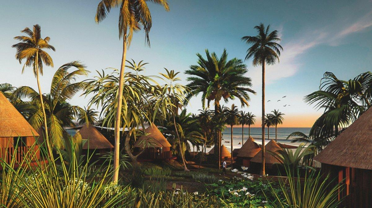 Render resort at Guinea by GAYARRE infografia