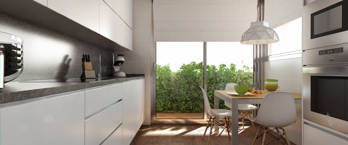 Render interior kitchen by GAYARRE infografia