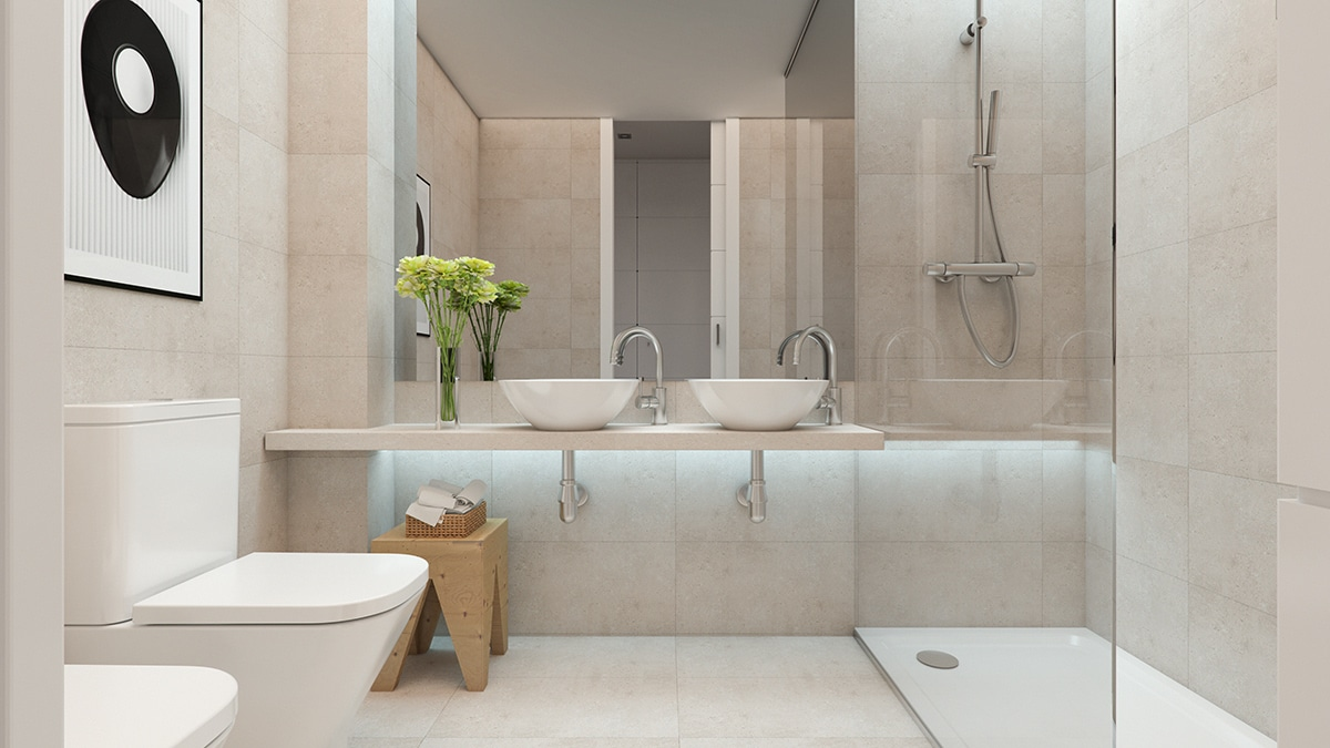 Render interior bathroom by GAYARRE infografia