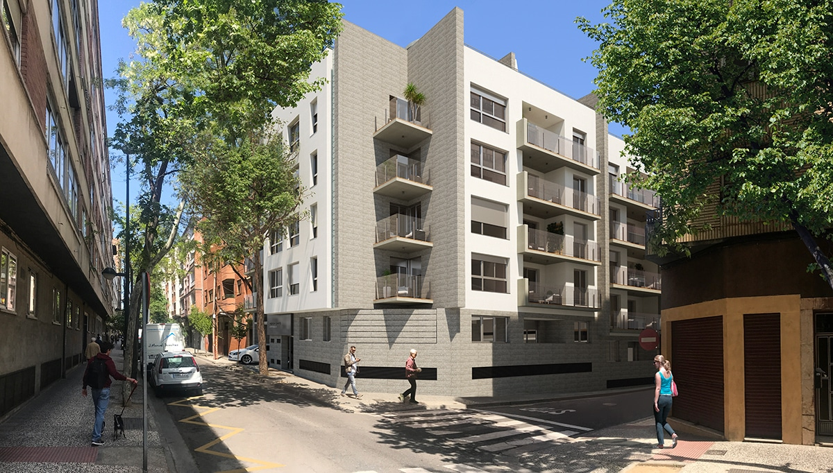 Render exterior from street view by GAYARRE infografia