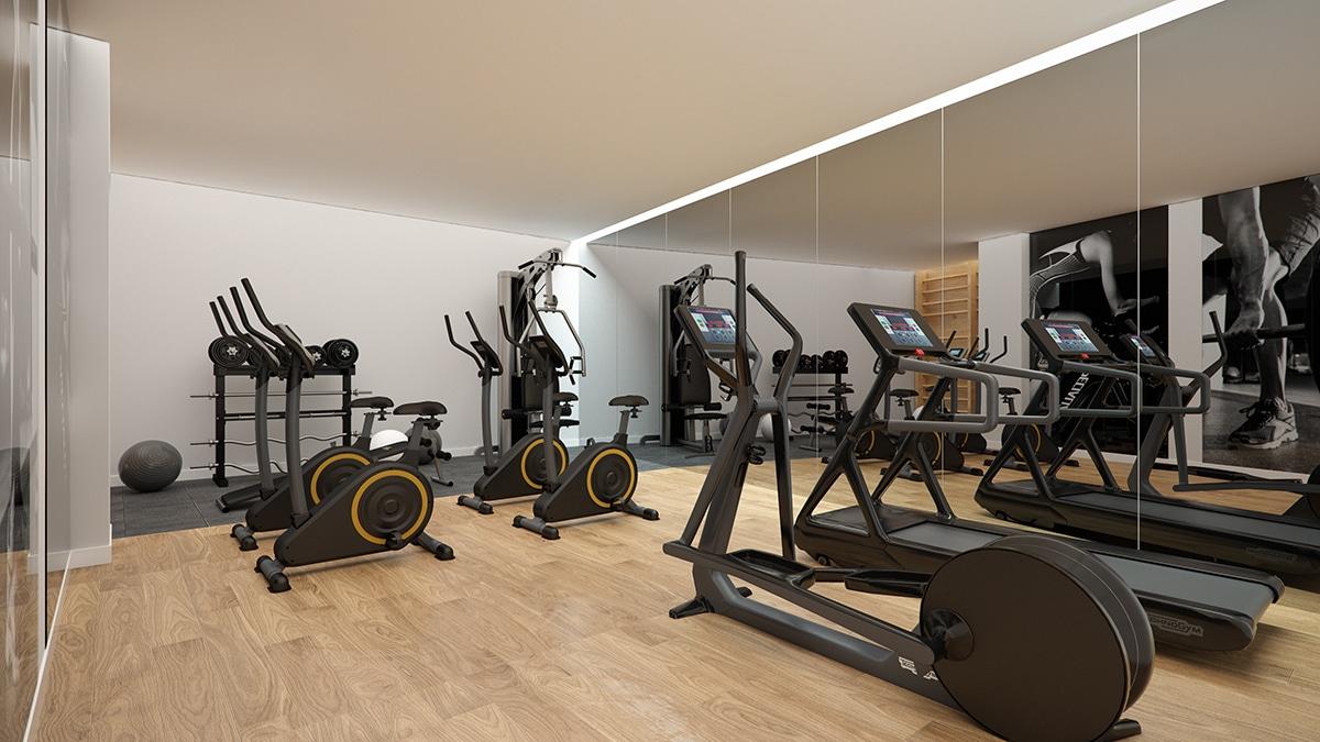 Render interior gym by GAYARRE infografia