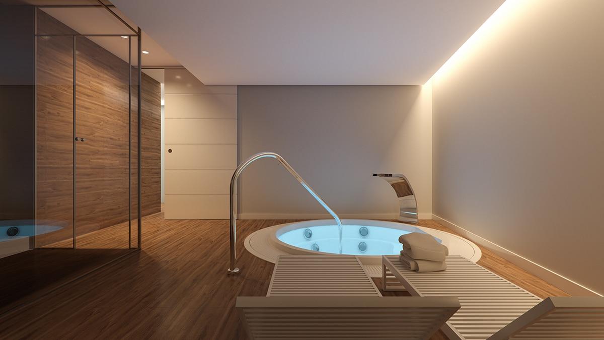 Render interior spa by GAYARRE infografia