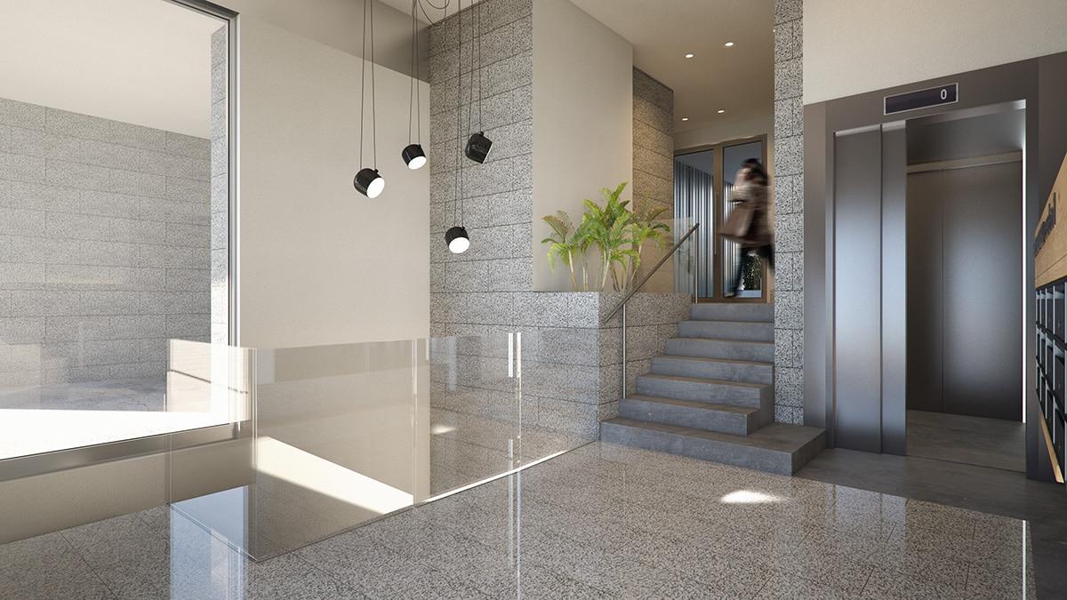 Render interior hallway by GAYARRE infografia
