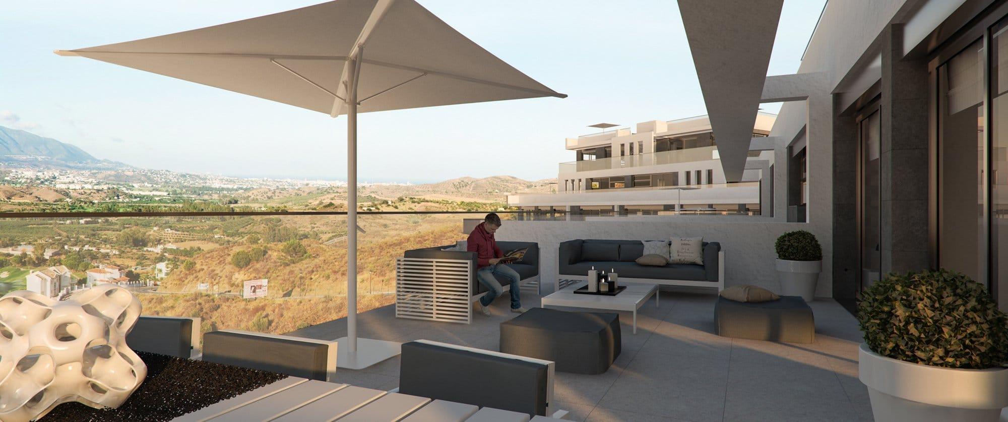 Render exterior terrace by GAYARRE infografia