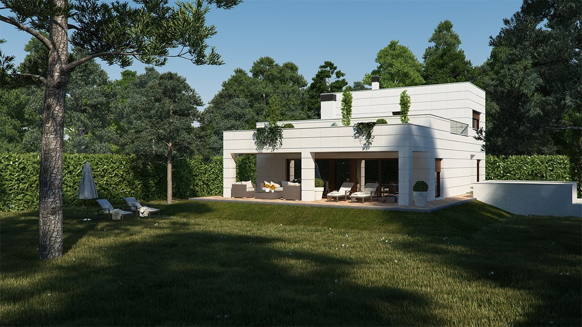 Render exterior single house by GAYARRE infografia